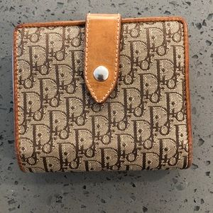 Christian Dior wallet with coin purse